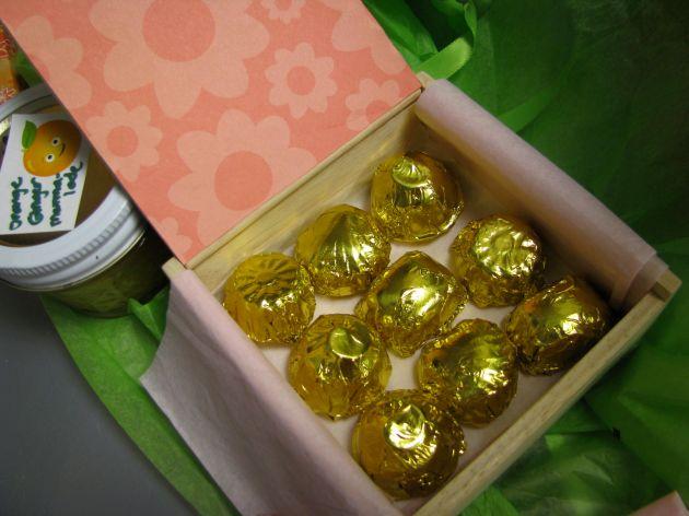 Homemade vegan chocolates