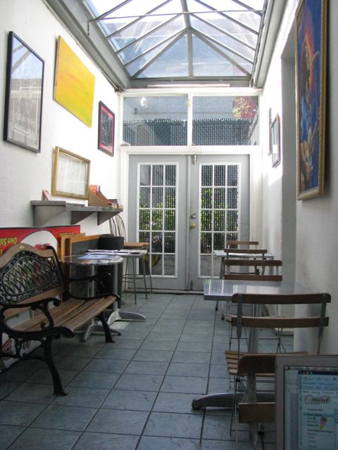 The back of the restaurant