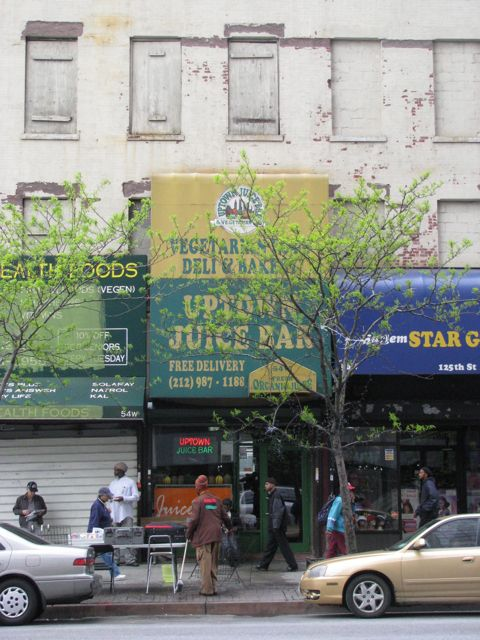 The Uptown Juice Bar in Harlem, NYC
