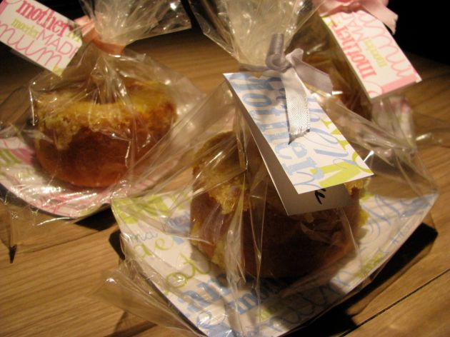 Packaged lemon cakes