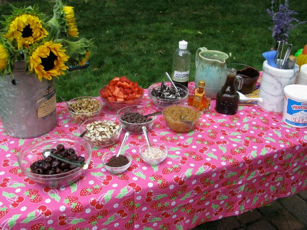 The sundae bar