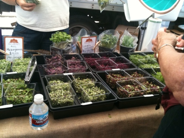 The microgreens booth