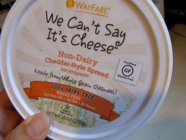 """We Can't Say It's Cheese"" vegan cheeze spread"