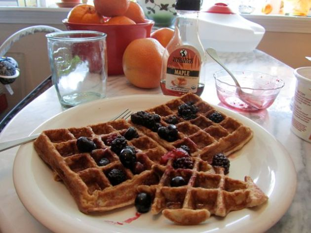 Banana Waffles from VegWeb
